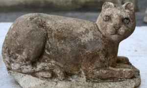 The cat-goddess Bastet found amongst ruins in Alexandria, Egypt